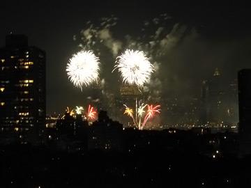 Fireworks from 175 Adams Street