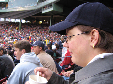 Anne at a Red Sox game