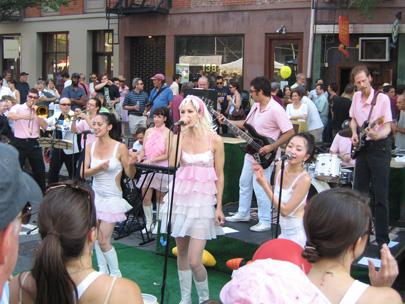 Pink Japanese GoGo band