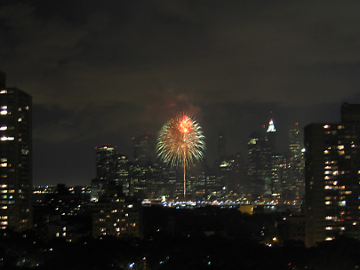 Fireworks in Brooklyn