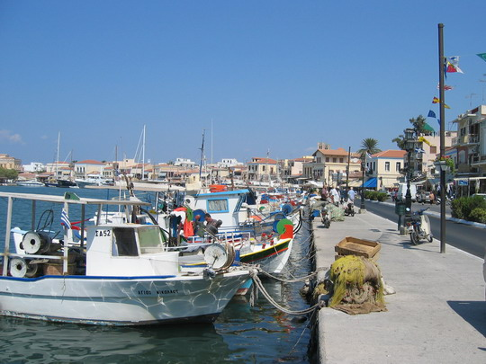 Boats on the Aegina waterfront
