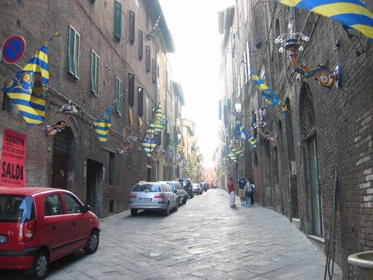 Street in Tartuca, Sienna