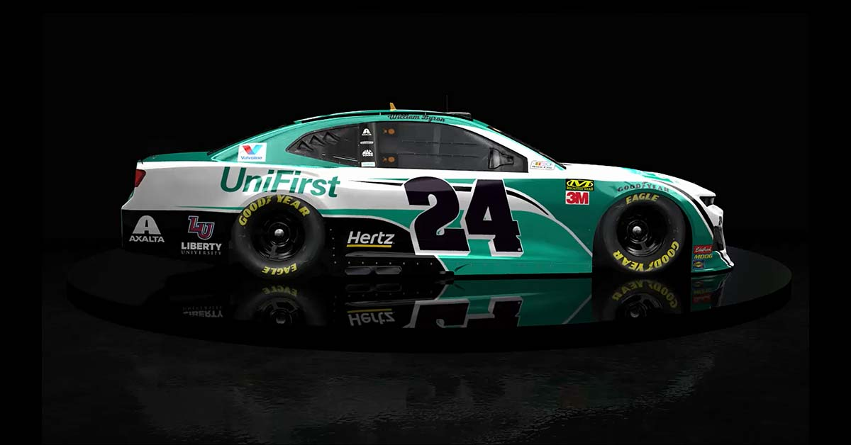 Car Mats Unifirst Unveils No. 24 Chevrolet Camaro Zl1 Race Car For
