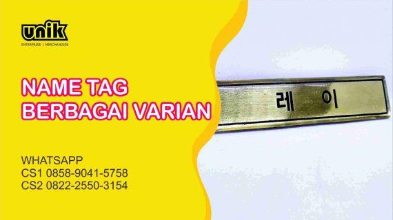 Bikin Name Tag Satuan