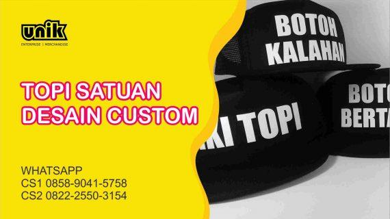 Bikin Topi Custom Satuan Harga Murah