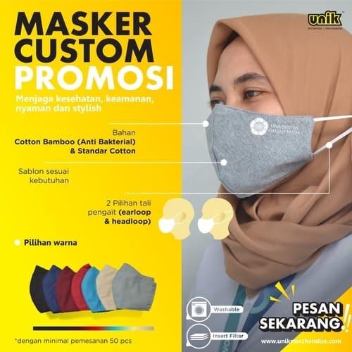 Masker Kain Hijab Karet