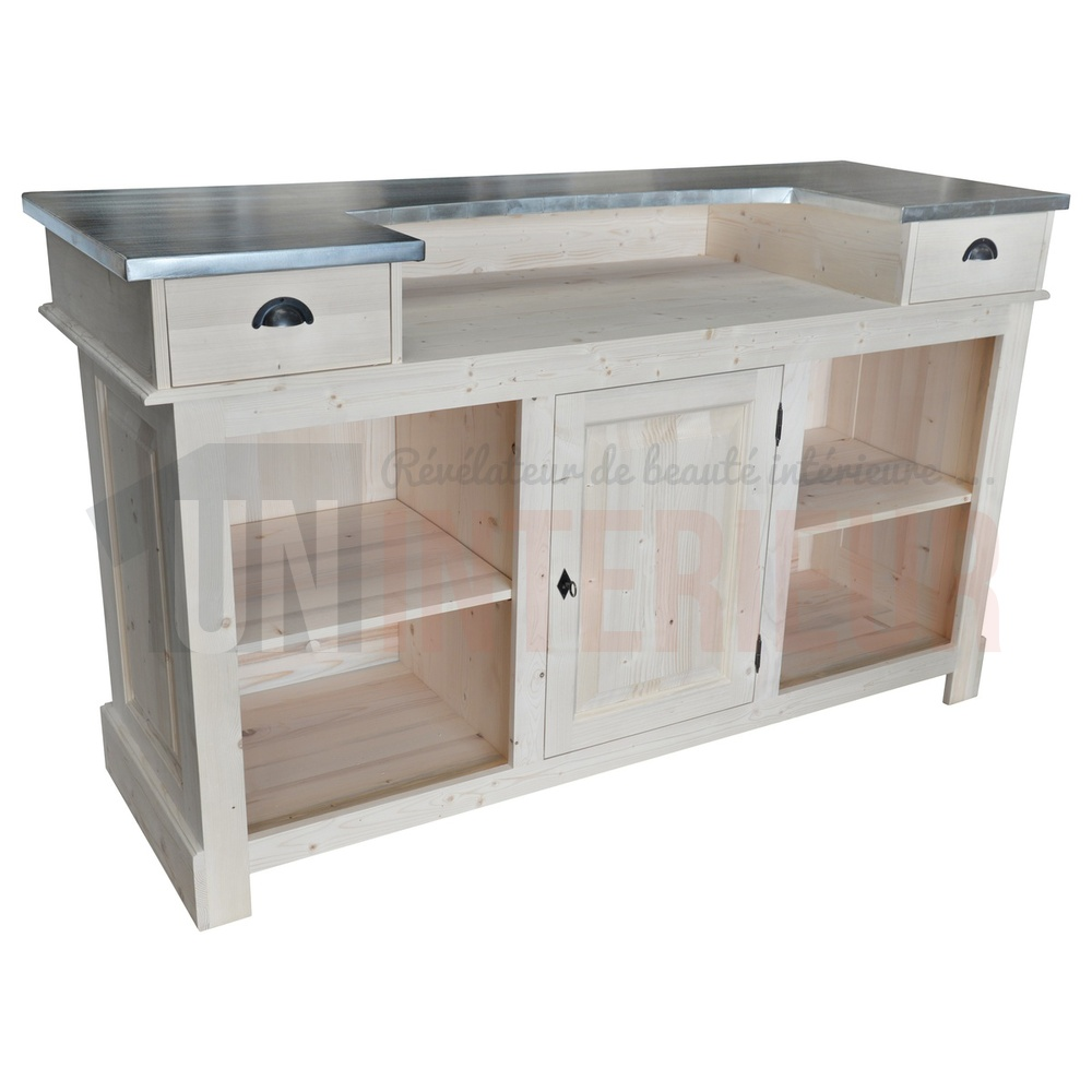 Meuble Bar Comptoir Comptoir De Bar Ou Meuble Bar En Pin Massif 180cm Chester