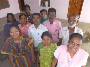 The staff of the Tamil Nadu Labour Union at their office in Madurai