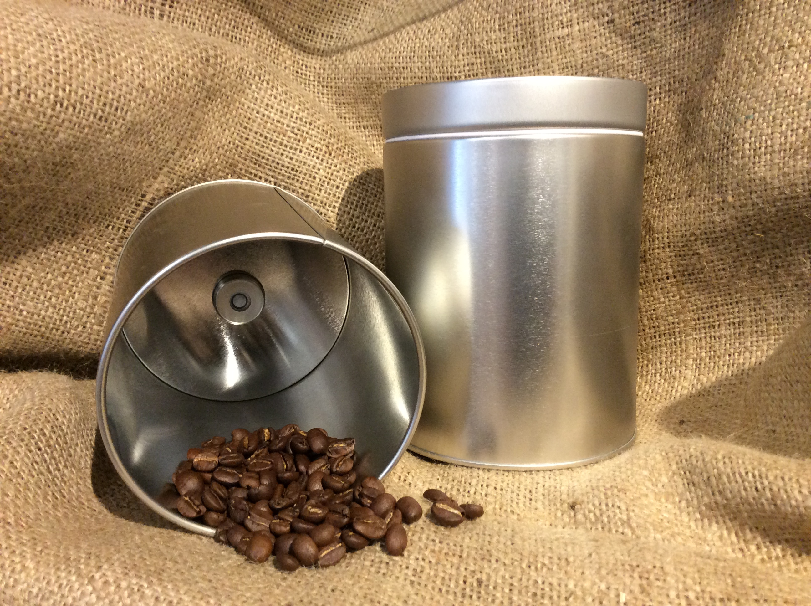 Coffee Canister With De Gas Valve