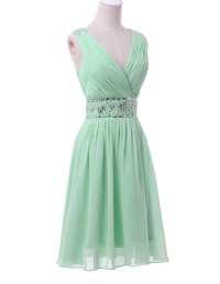Mint Green Short Chiffon Sequin Bridesmaid Dress ...