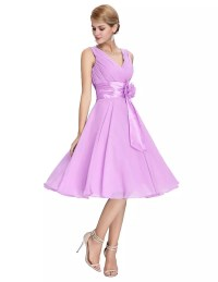 Knee Length Short Chiffon Bridesmaid Dress - Uniqistic.com
