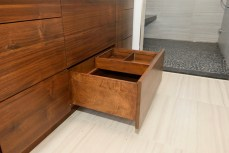 Dovetailed drawers with removable tray and adjustable dividers