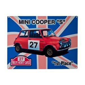 Mini Cooper Metal Sign