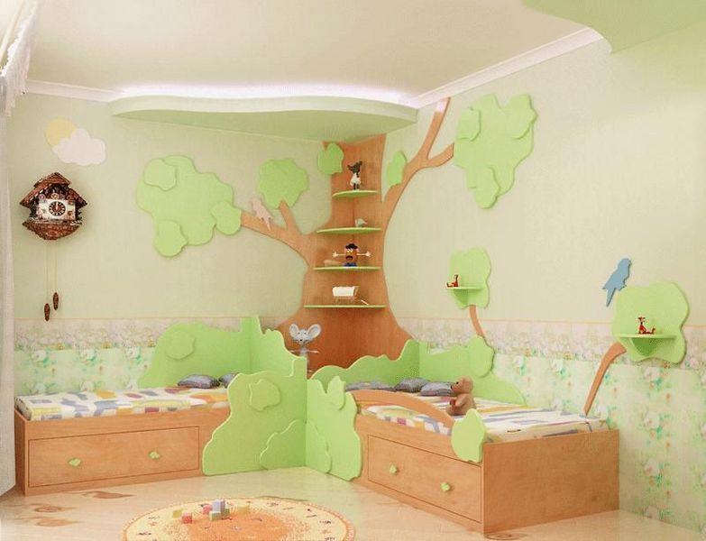 ちょっとした工夫でかわいらしい森の部屋に