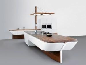 船の形をしたスタイリッシュなキッチン