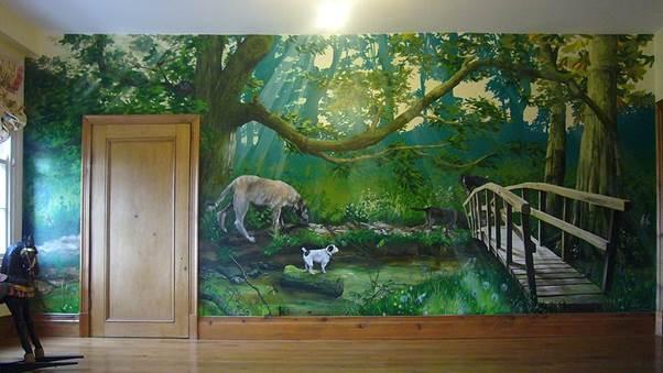 毎日が森林浴の寝室