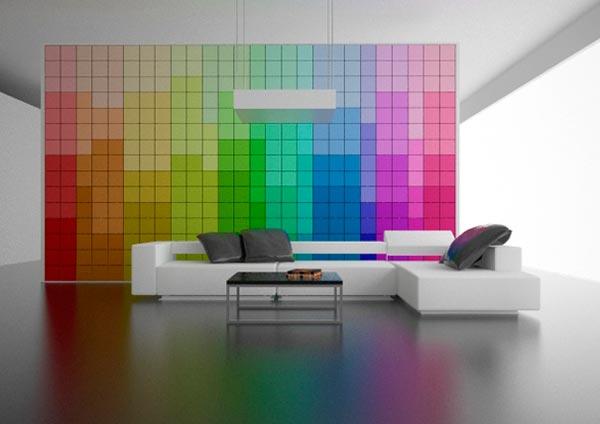 すっごくおしゃれなカラーチャートの壁