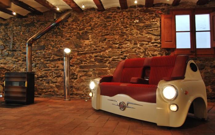 おしゃれな車型ソファー