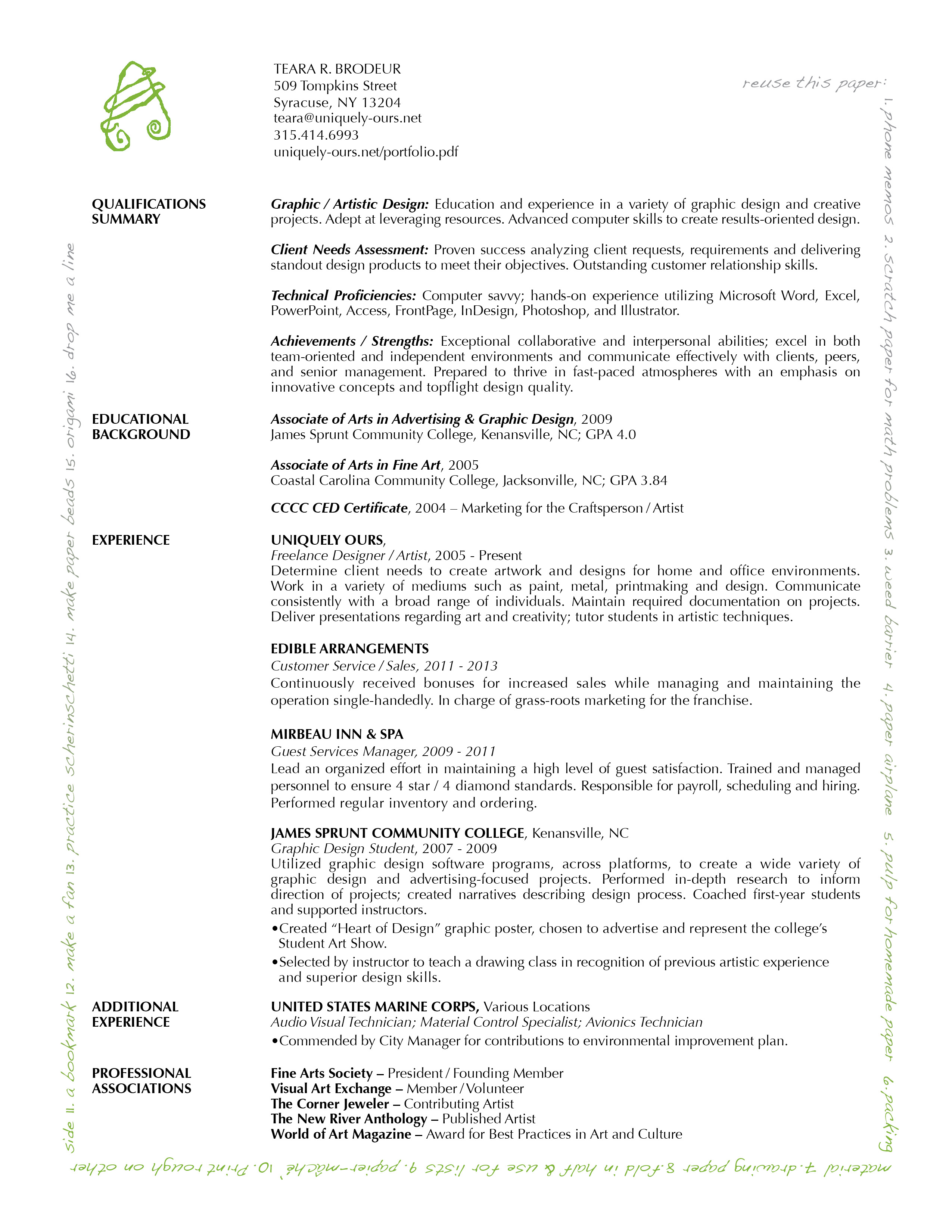 career statement examples