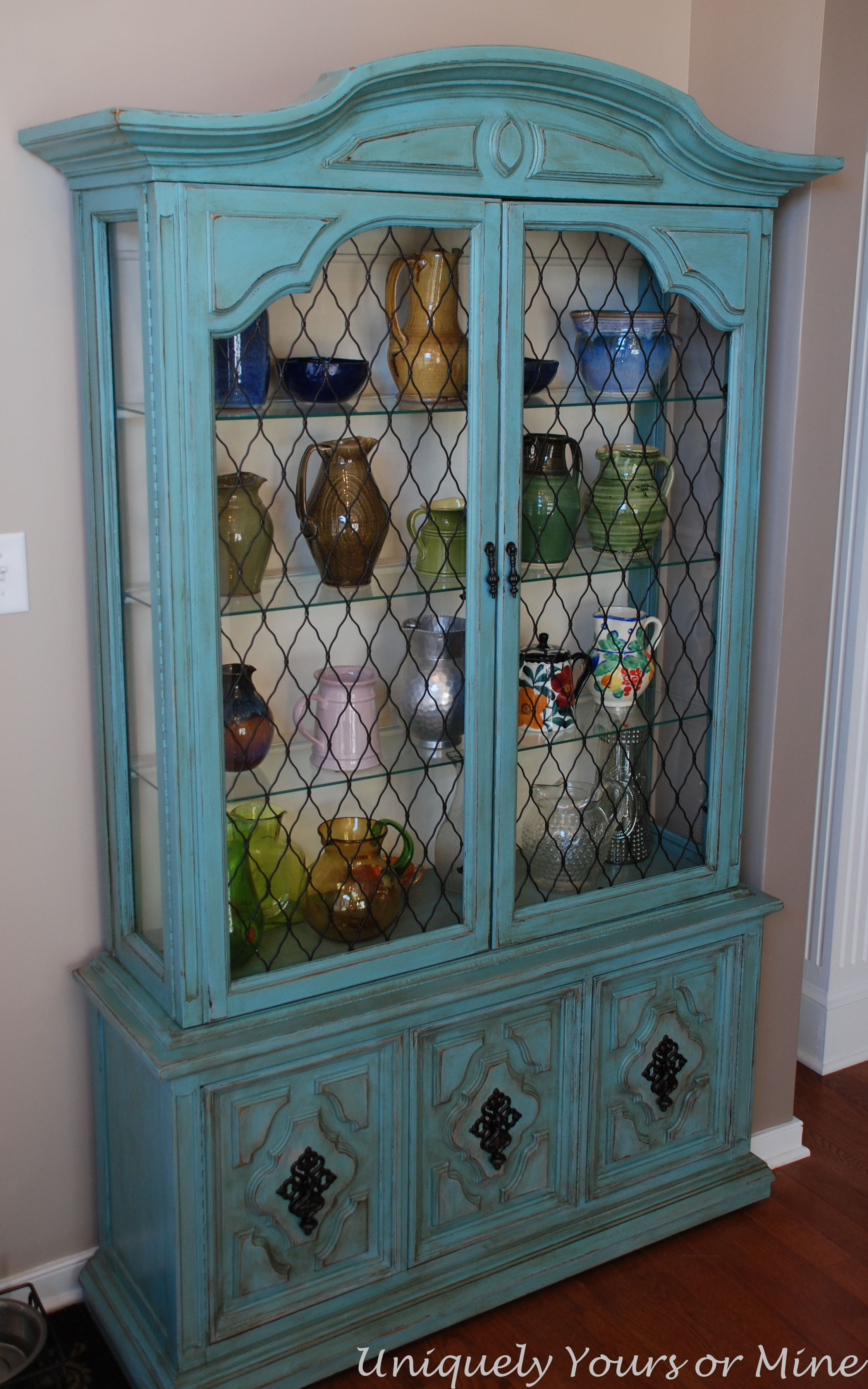 Ikea Expedit Chalk Paint A Much Loved China Cabinet Uniquely Yours Or Mine