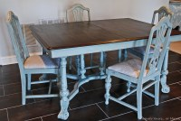 Painted vintage dining table