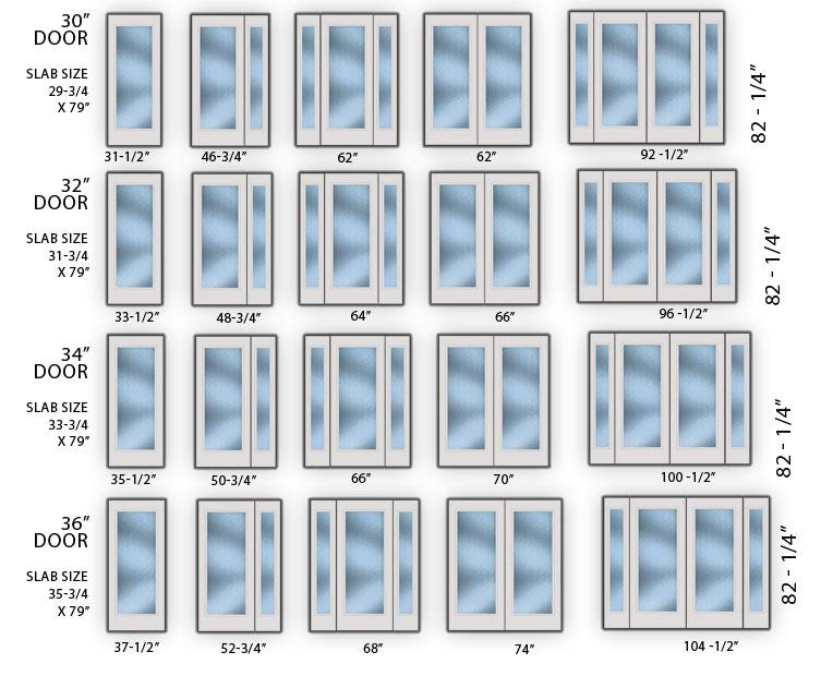 exterior door sizes chart - Morenimpulsar
