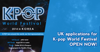 UK applications for K-pop World Festival – OPEN NOW