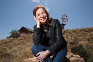Climate scientist Katharine Hayhoe photographed at the National Ranching Heritage Museum in Lubbock, Texas on April 16, 2014. Photo Credit: Ashley Rodgers—Texas Tech University