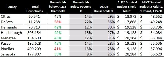 ALICE Report 2017 - United Way Suncoast