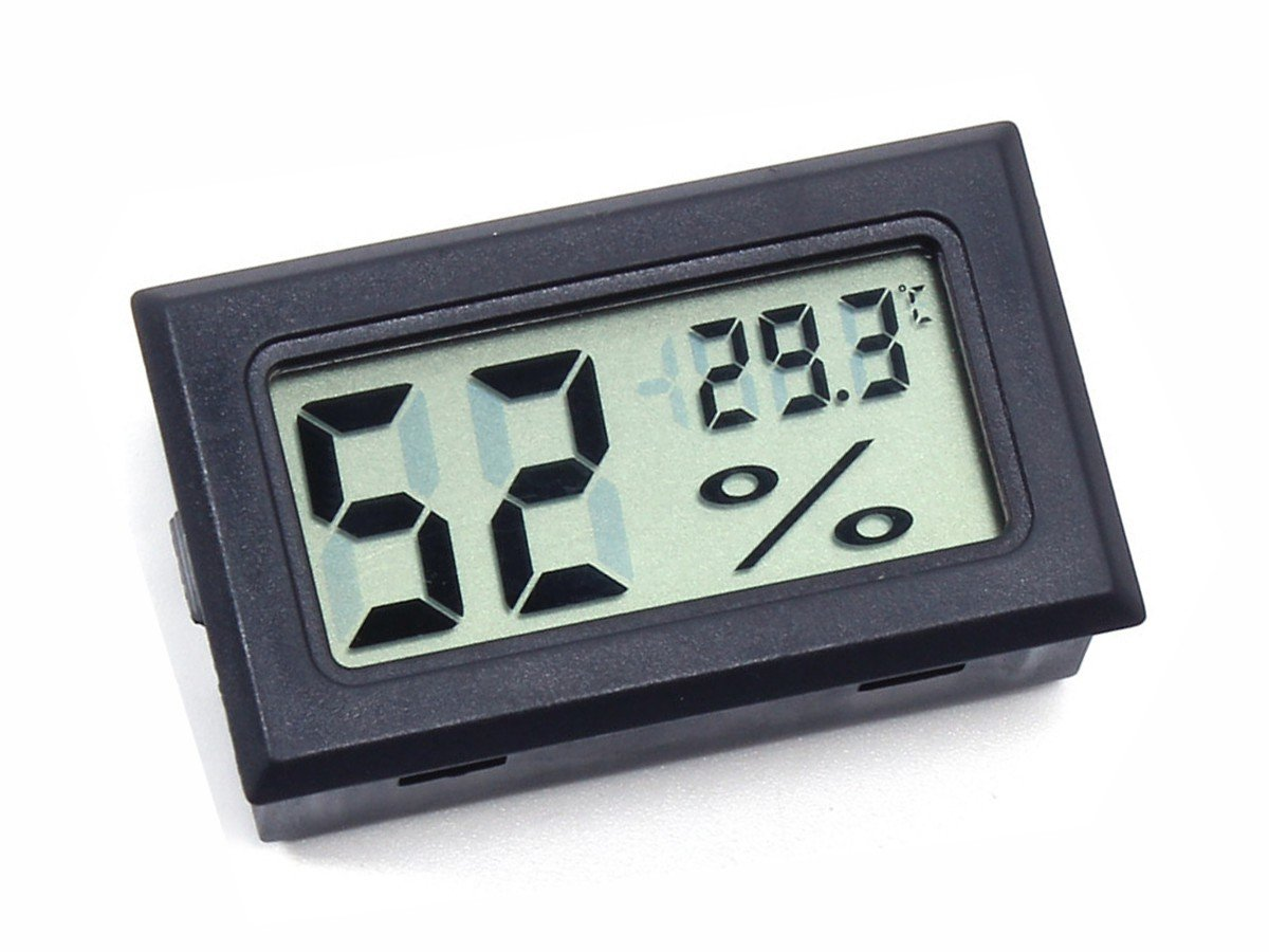 Battery Digital Mini Lcd Hygro Thermometer Panel Mount Battery Operated