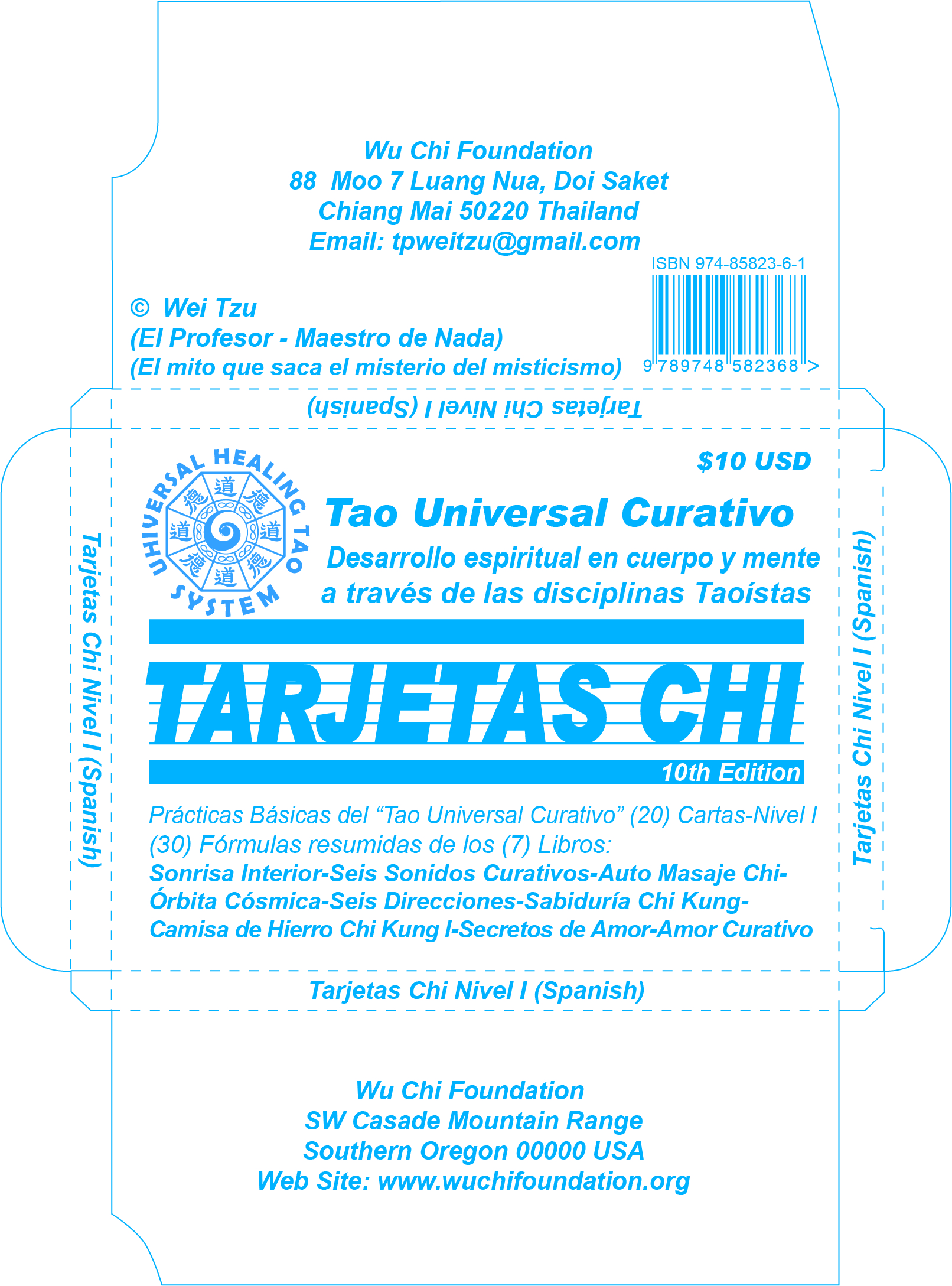 Chi Kung Libros Spanish Chi Cards Level I 10 Edition Universal Healing Tao