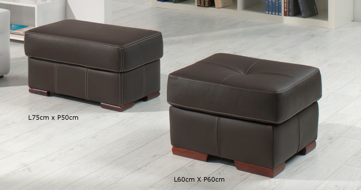 Pouf Italien Rodrigue Salon 3 2 Cuir Design Italien