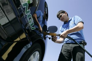 Vehicles powered by alternative fuel accelerate to acceptance. (AP Photo)