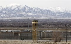 File - A Tuesday, Feb. 19, 2013 file photo shows the Utah State Prison in Draper, Utah. The Utah Legislature has voted to build a new prison in west Salt Lake City  (AP Photo/Rick Bowmer, File)