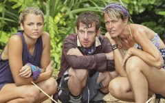 'Kill or be Killed' - Andrea Boehlke, John Cochran and Dawn Meehan of the Bikal Tribe during the fourth episode of SURVIVOR: CARAMOAN: FANS VS. FAVORITES (Courtesy CBS)