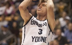 Tyler Haws hits a jumper against the Saint Mary's Gaels on Feb.1 in Provo, UT.