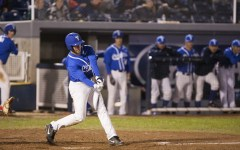 Bret Lopez bats for BYU in Tuesday's game against the University of Utah.