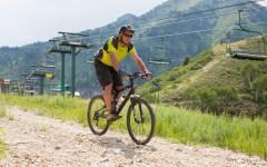 Mountain bikers enjoy riding down the slopes of Sundance. (Elliott Miller)