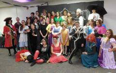 Members of BYU's Disney History Club celebrate Halloween with a Haunted Mansion themed party in the Wilkinson Student Center. (Disney History Club Facebook)
