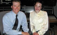 Stephanie and Christian Nielson share their faith-building story of survival and recovery from a plane crash with a Mormon Channel audience. Photo: Mormon Newsroom