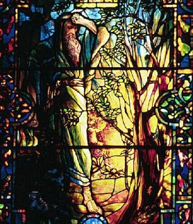 Moses and the Burning Bush - Stained glass window