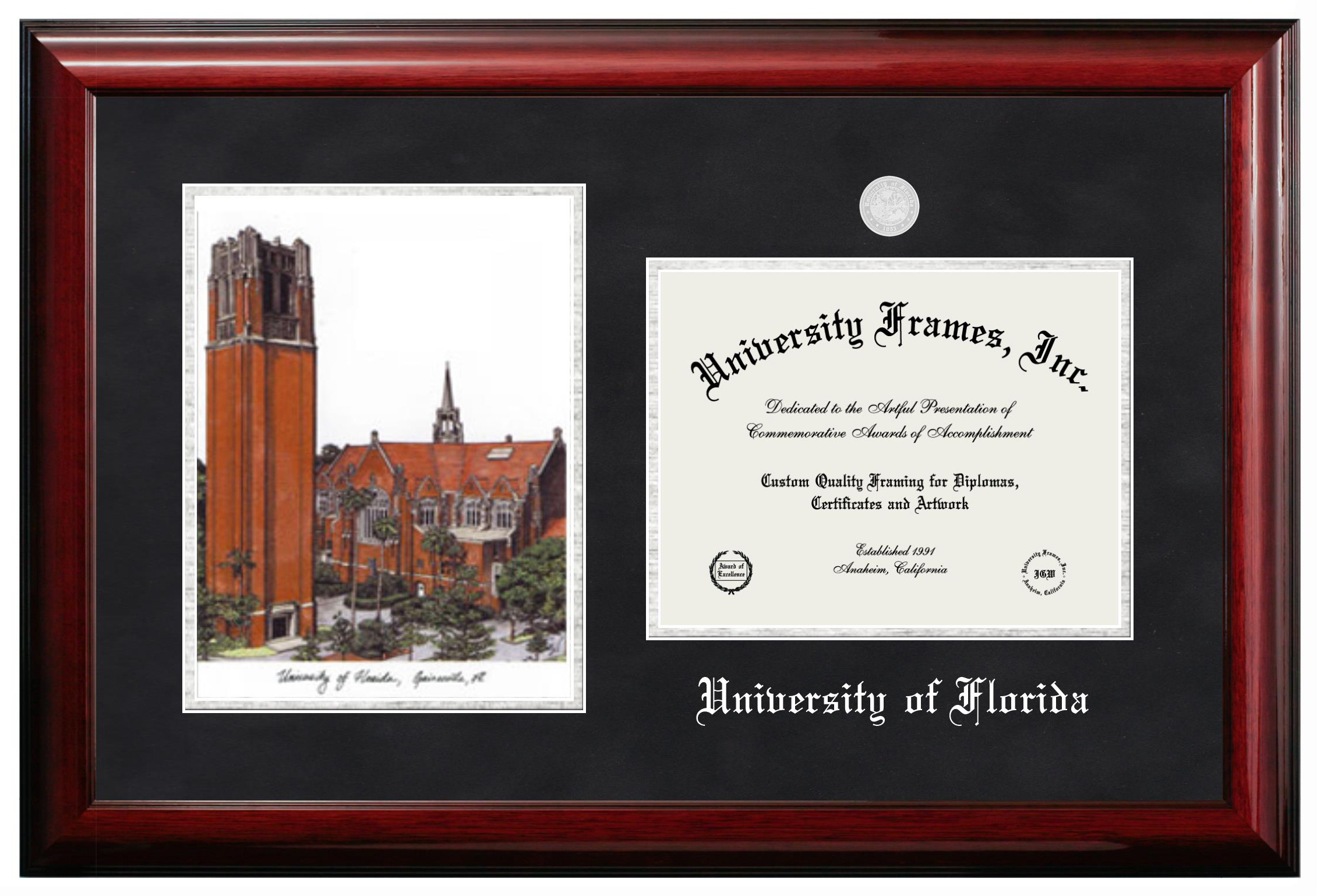 Frame Picture Custom Made Wood Diploma Frames University Frames