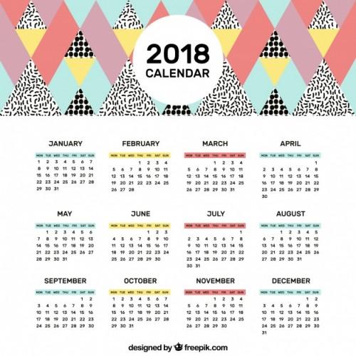Calendario 2018 completo para imprimir y descargar Universo Guia