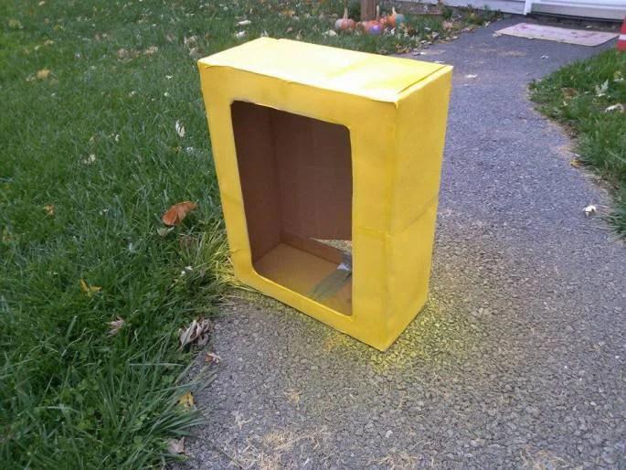 verniciare confezione scatola gialla