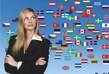 donna e bandiere