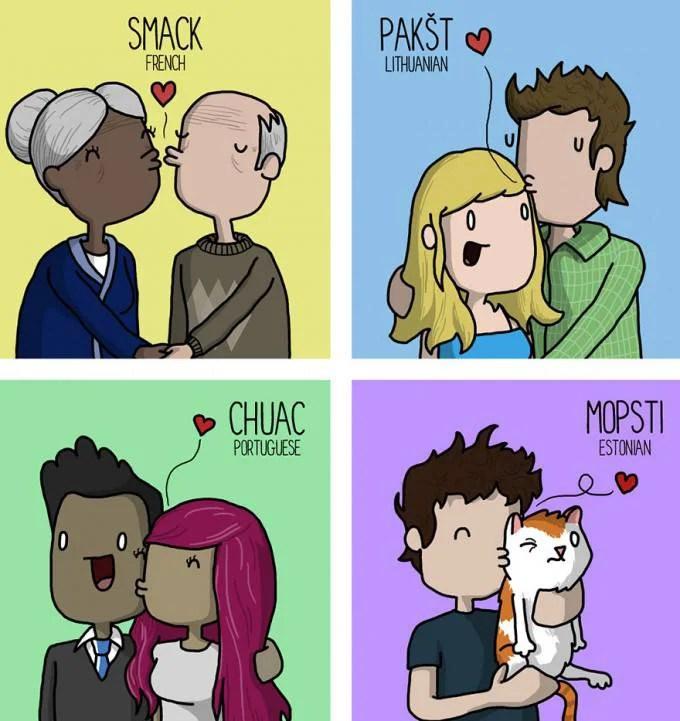 baci in lingue straniere