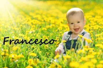bambino felice nel verde