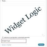 Widget Logic: defina em quais páginas seus widgets irão aparecer