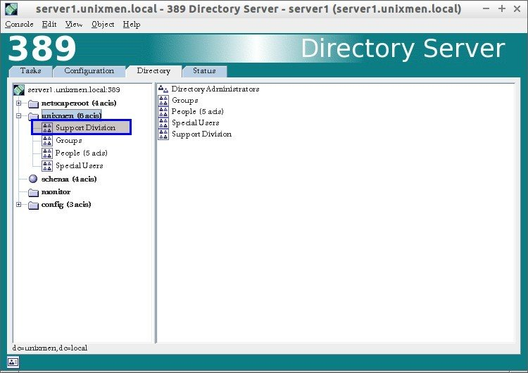 Tivoli Directory Server Ldapsearch Command Manage 389-ds Using 389 Management Console