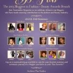 Atlanta Tastemaker Magazine B. Fab Blogger Awards